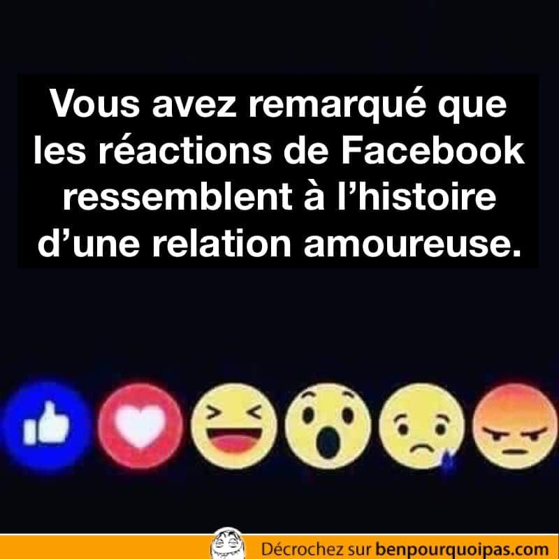 Les réactions de Facebook racontent l'histoire d'un couple