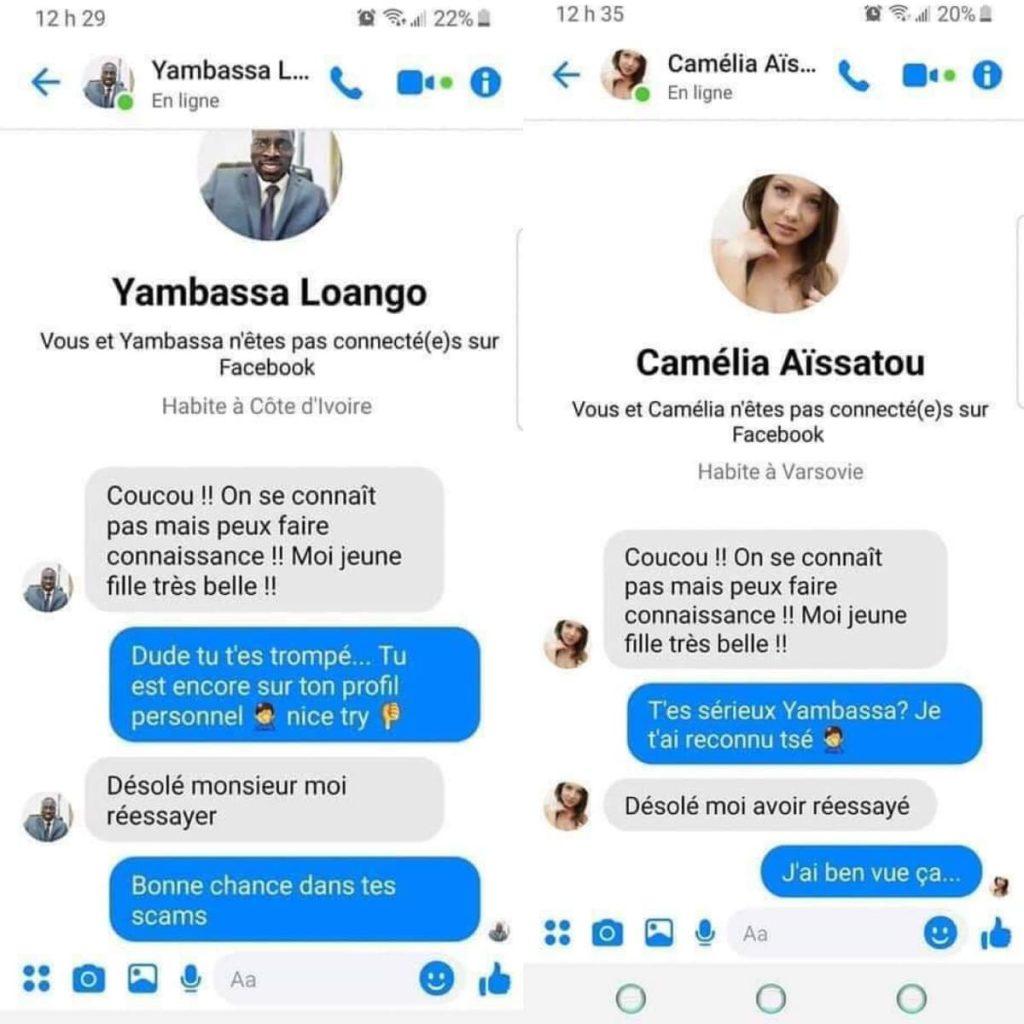 Yambassa Loango, scammer (pas trop) professionnel