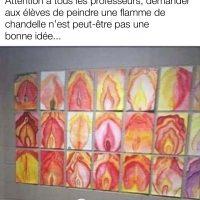 Demander de peindre des flammes aux enfants peut donner un résultat étrange