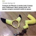 Costume de Pikachu a vendre…