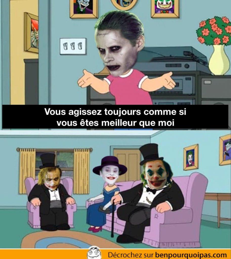 Le Joker de Jared Leto se plaint que les autres Jokers (jack Nicholson, Heath Ledger Joaquin Phoenix), le regardent de haut