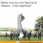 Se marier au Loch Ness peut avoir des conséquences…