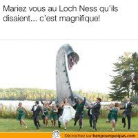 Se marier au Loch Ness peut avoir des conséquences...