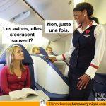 Les avion, elles s'écrasent souvent?