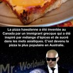 L'origine de la pizza hawaiienne…