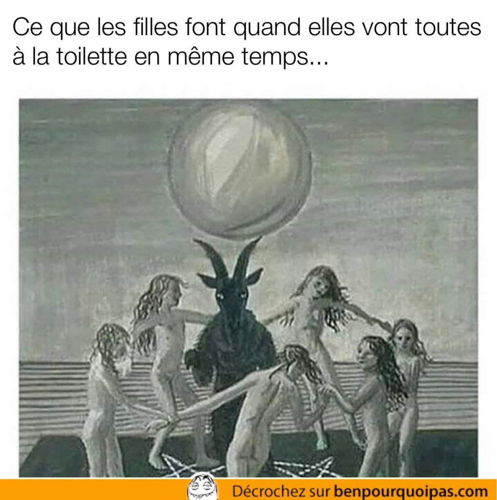 des vierges nues dansent autour du diable