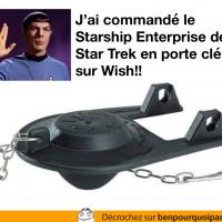 Star Trek Enterprise en porte clé commandé sur Wish