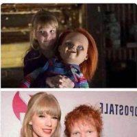 Taylor Swift et Ed Sheeran lorsqu'ils étaient petits