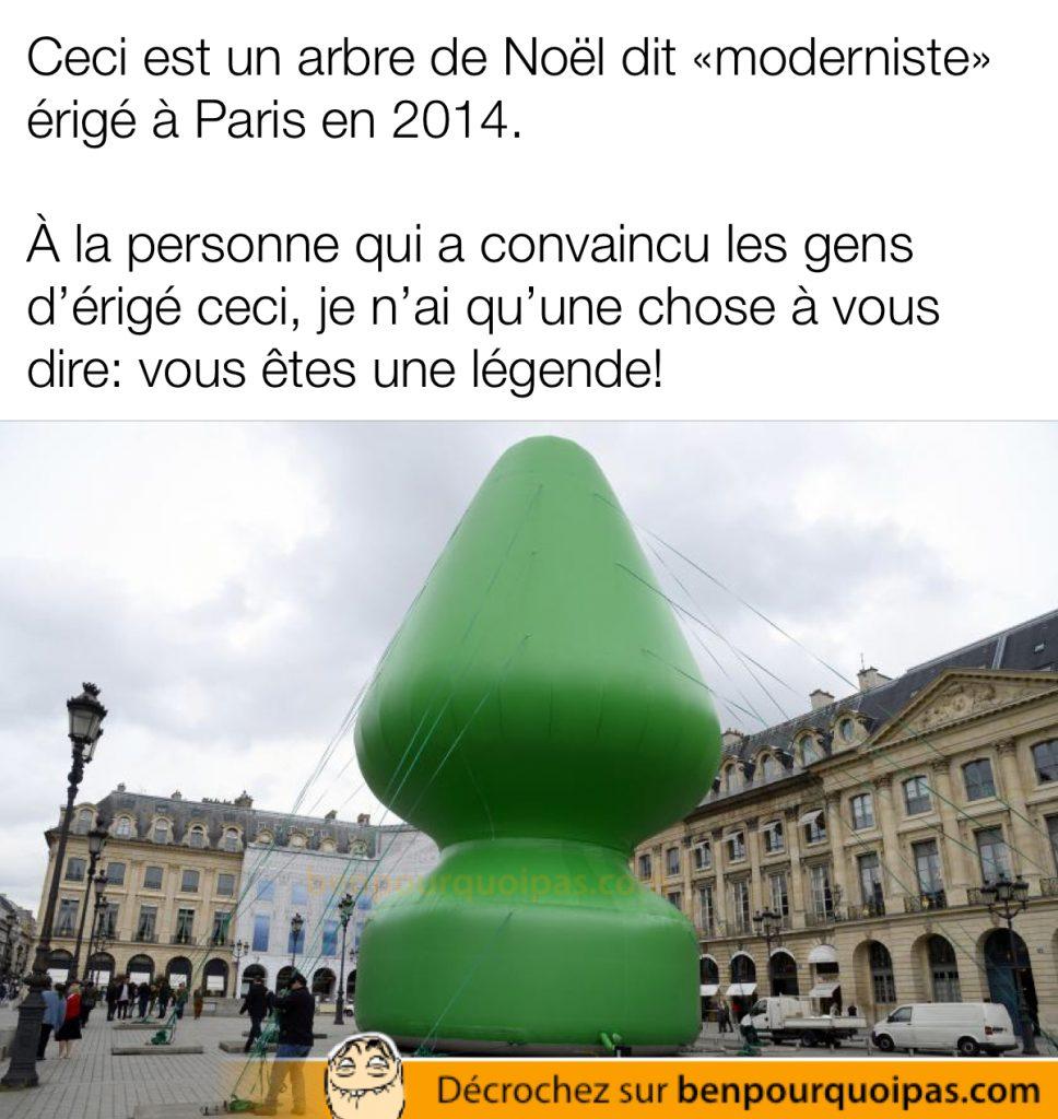 Arbre de noel parisien 2014 butt plug