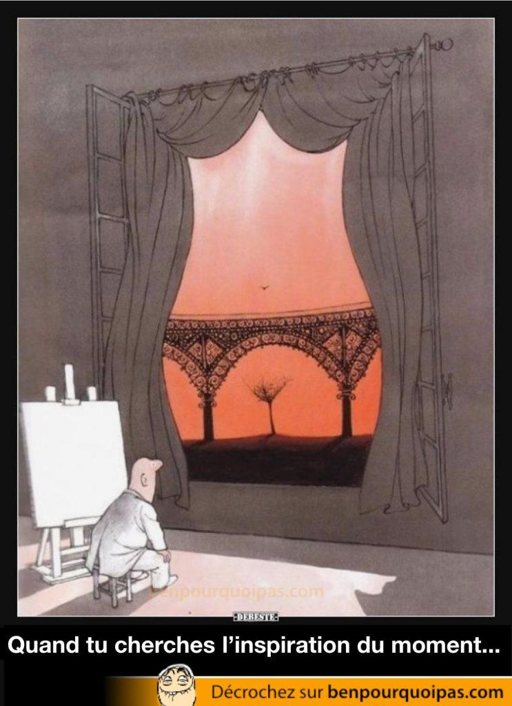 une fenêtre ressemble à un corp de femme portant de la lingerie