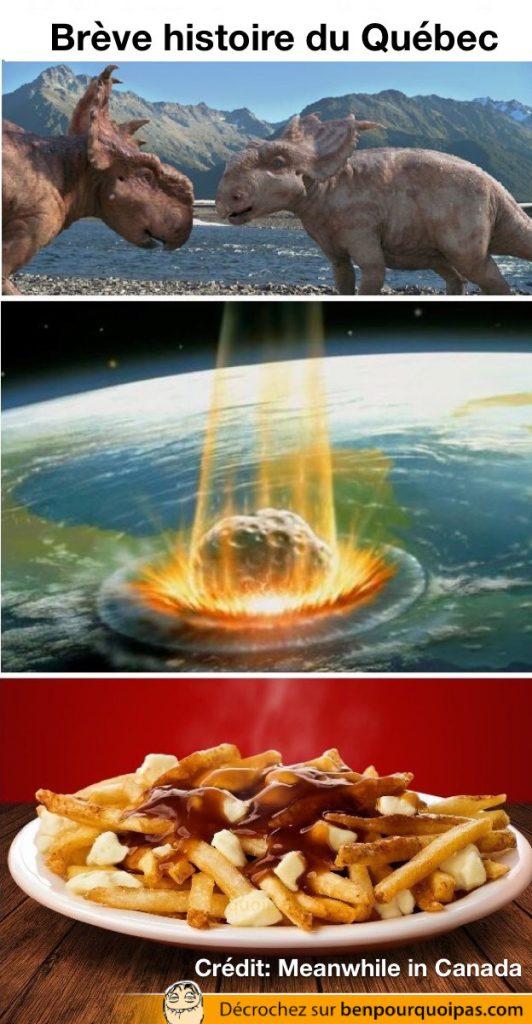 dinosaure, big bang et poutine