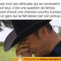 Chanson country à propos d'un pick-up qui laisse son propriétaire