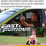 Tes enfants te demandent de jouer à Mario Kart et s'attendent à ce que tu les laissent gagner