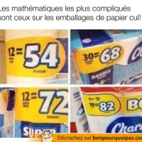 Les mathématiques sur les emballages de papier de toilette sont les plus compliqués