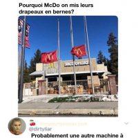 Quand McDonald's mettent leurs drapeaux en berne pour une machine à crème glacée