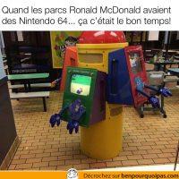 Qui se souviens des Nintendo 64 dans les McDonalds