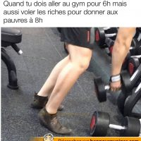Robin des bois qui va s'entraîner au gym