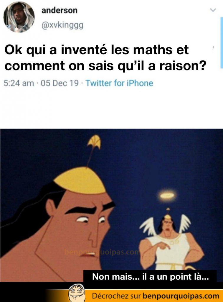 un gars se questionne sur l'origine des mathématiques