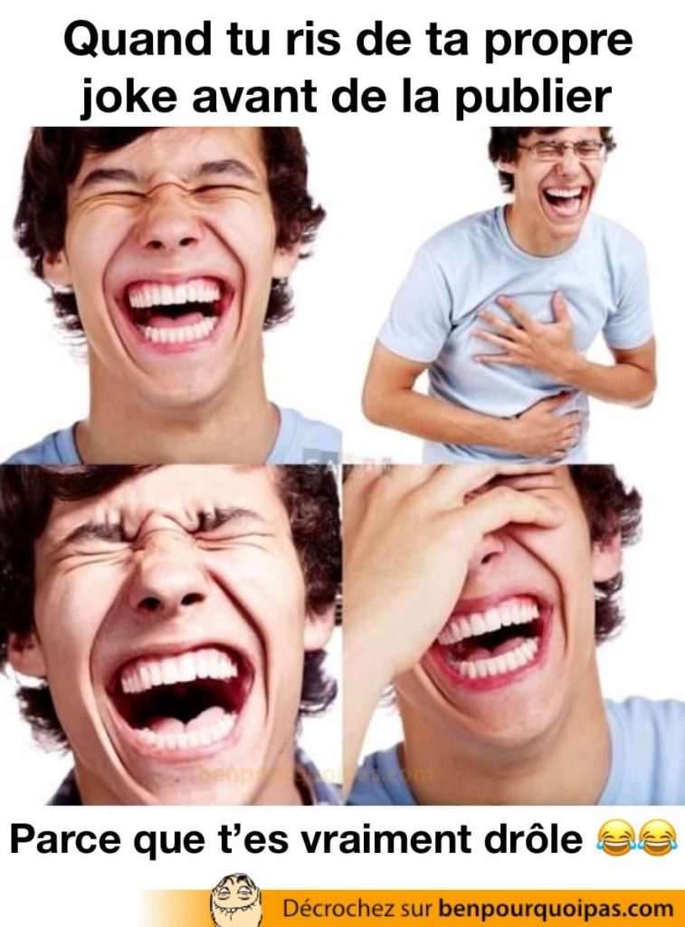 un gars ris aux éclats