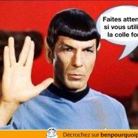 Les enfants, faites attention avec la colle forte - Spock