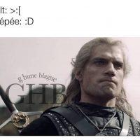 Geralt et son épée dans The Witcher