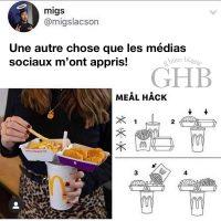 C'est fous ce qu'on peu apprendre sur les médias sociaux: comment manger son McDonald!