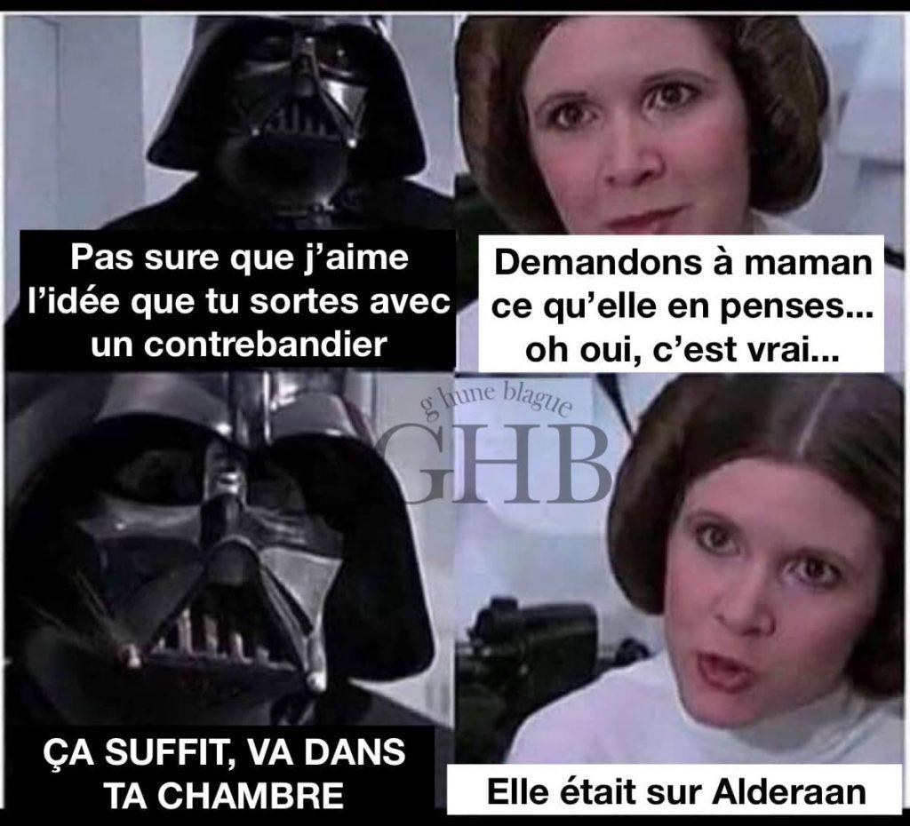 Une discussion père-fille entre Darth Vador et Princesse Leia