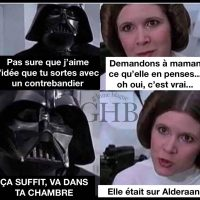 Une discussion père-fille entre Darth Vador et Princesse Leia