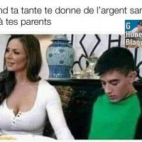 Quand ta tante te donne de l'argent sans le dire a tes parents