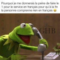 Les services à la clientèle qui ont peines à parler le français!