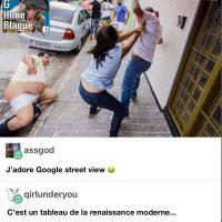 Un tableau de style renaissance moderne, gracieuseté de Google Street View!