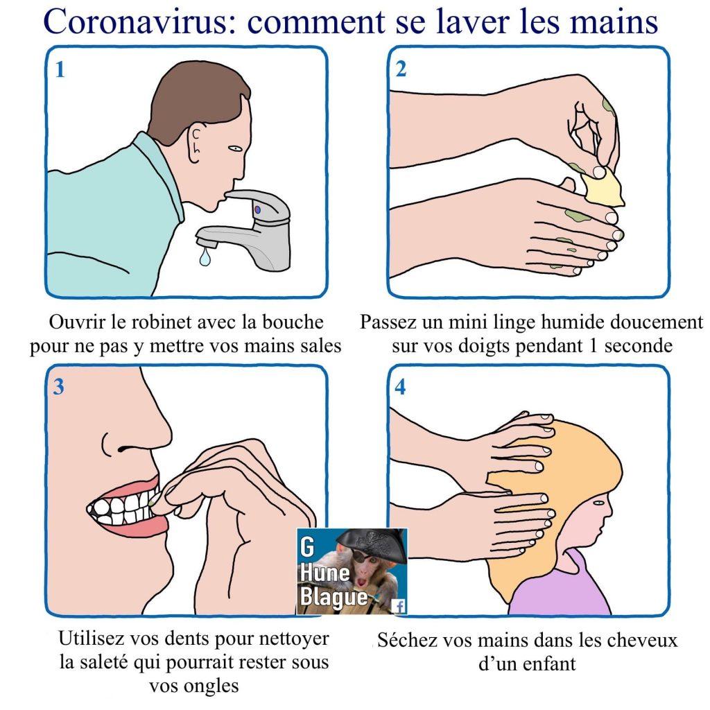 Comment bien se laver les mains pour éviter la contamination absurde
