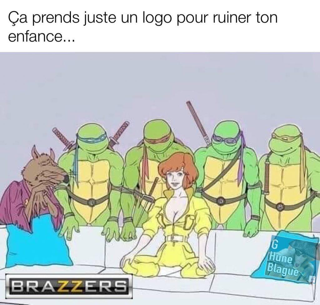 Ninja Turtle Piper Perri style Brazzers - Ça ne prends qu'un seul logo pour ruiner une enfance
