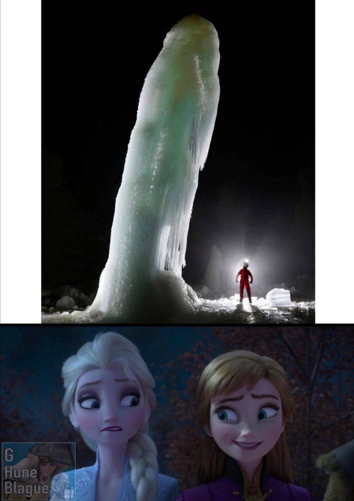 Deux réactions face à un énorme pénis, la reine des neige frozen disney