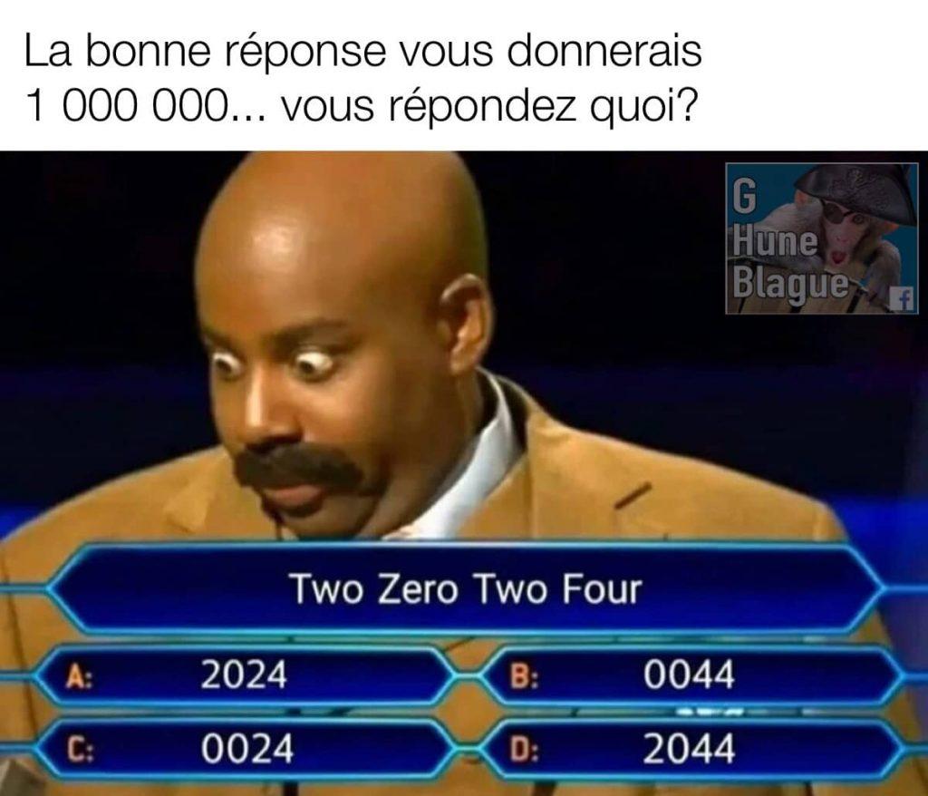 Auriez-vous la bonne réponse pour 1 000 000?