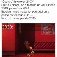 À quoi ressemblerons les cours d'histoire en 2100... on va éviter de parler de 2020!