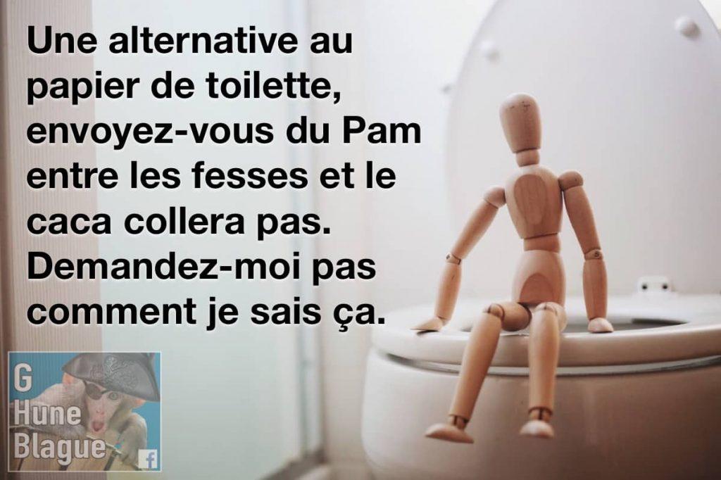 Une alternative au papier de toilette, envoyez-vous du Pam entre les fesses