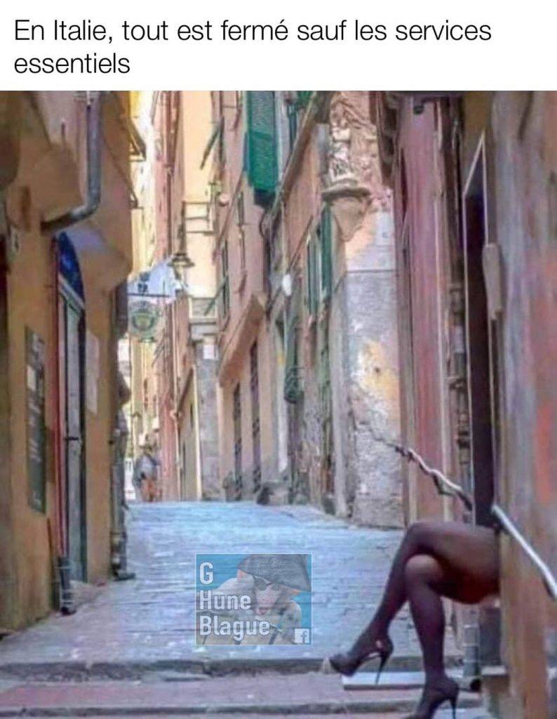 En Italie, tout est fermé excepté pour les services essentiels: la prostitution