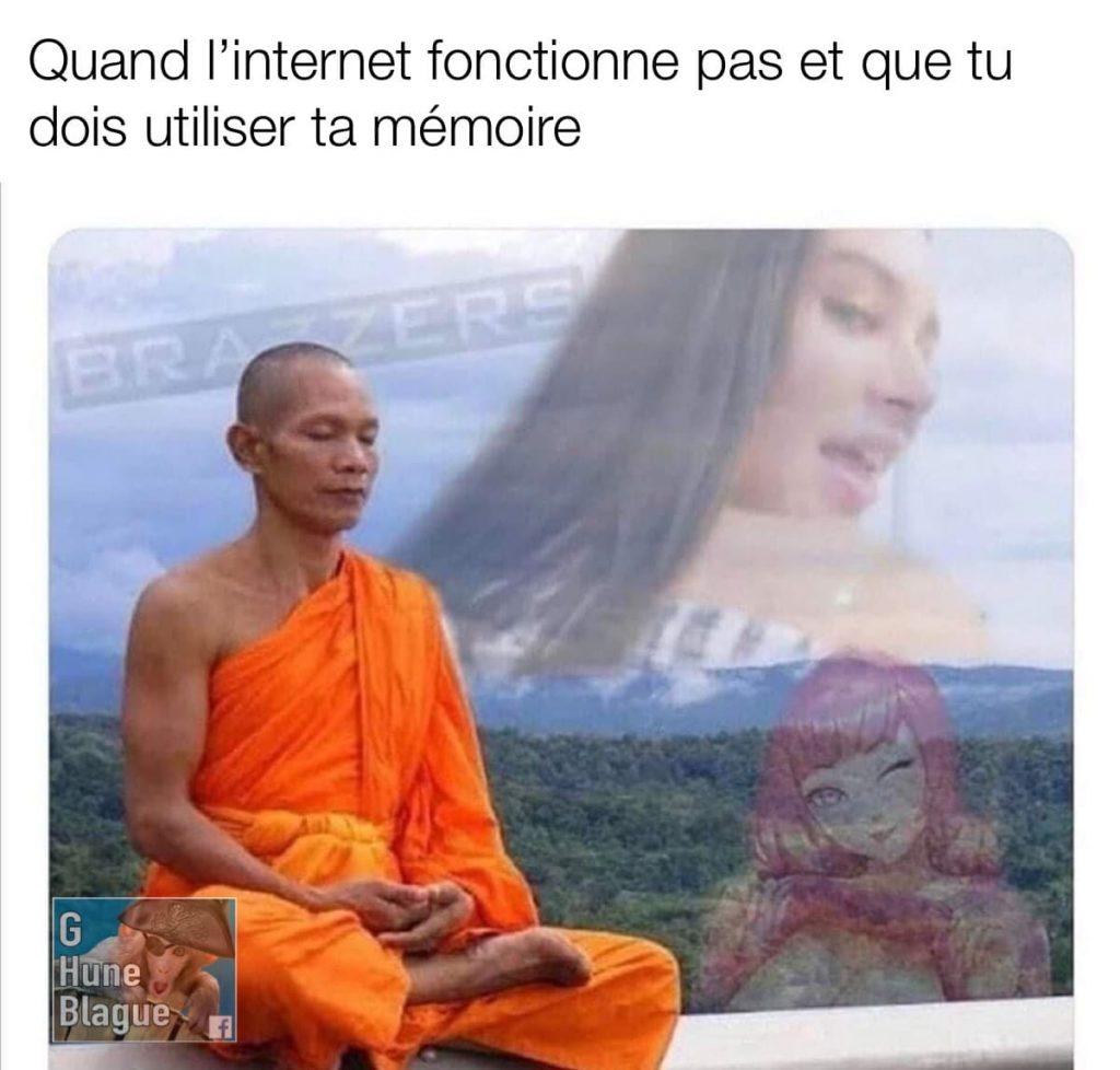 Quand l'internet ne fonctionne pas et que tu dois utiliser ta mémoire pour la porno brazzers