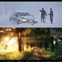 Avril au Québec à chaque année versus avril en quarantaine