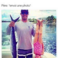 Un père et sa fille qui vont à la pêche