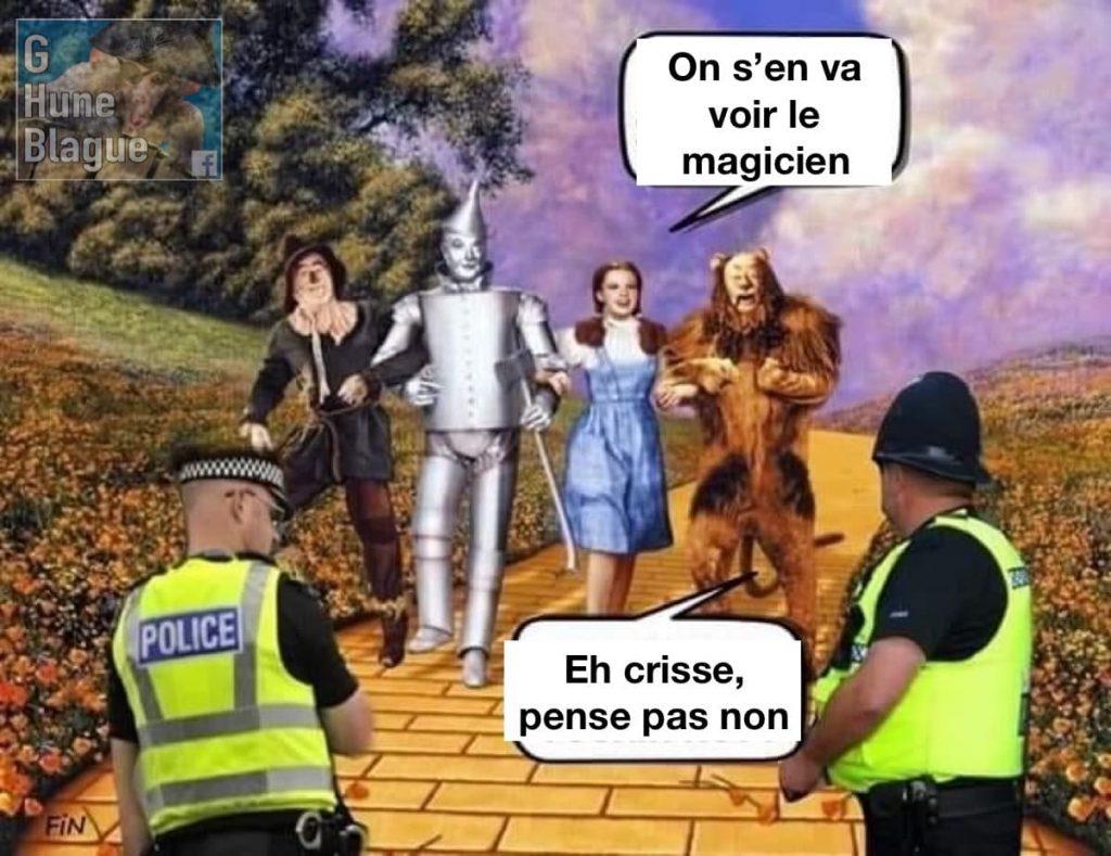 Dorothé qui pense aller voir le magicien d'Oz pendant la période de confinement