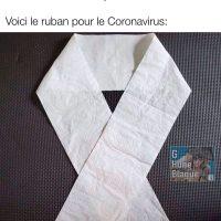 Comme les maladies du coeur et le cancer ont leurs ruban, voici le ruban pour le coronavirus