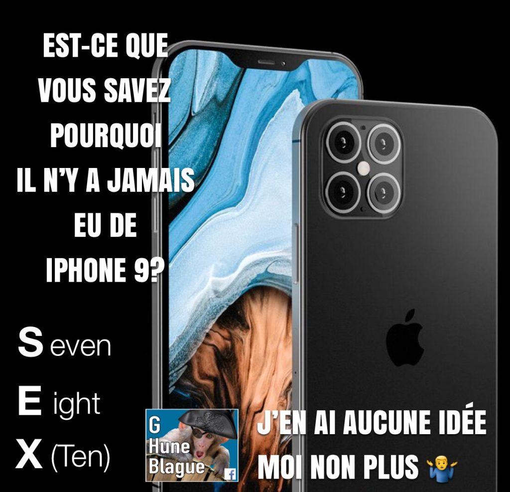 La vrai raison pourquoi Apple n'a pas sorti le iPhone 9... SEX