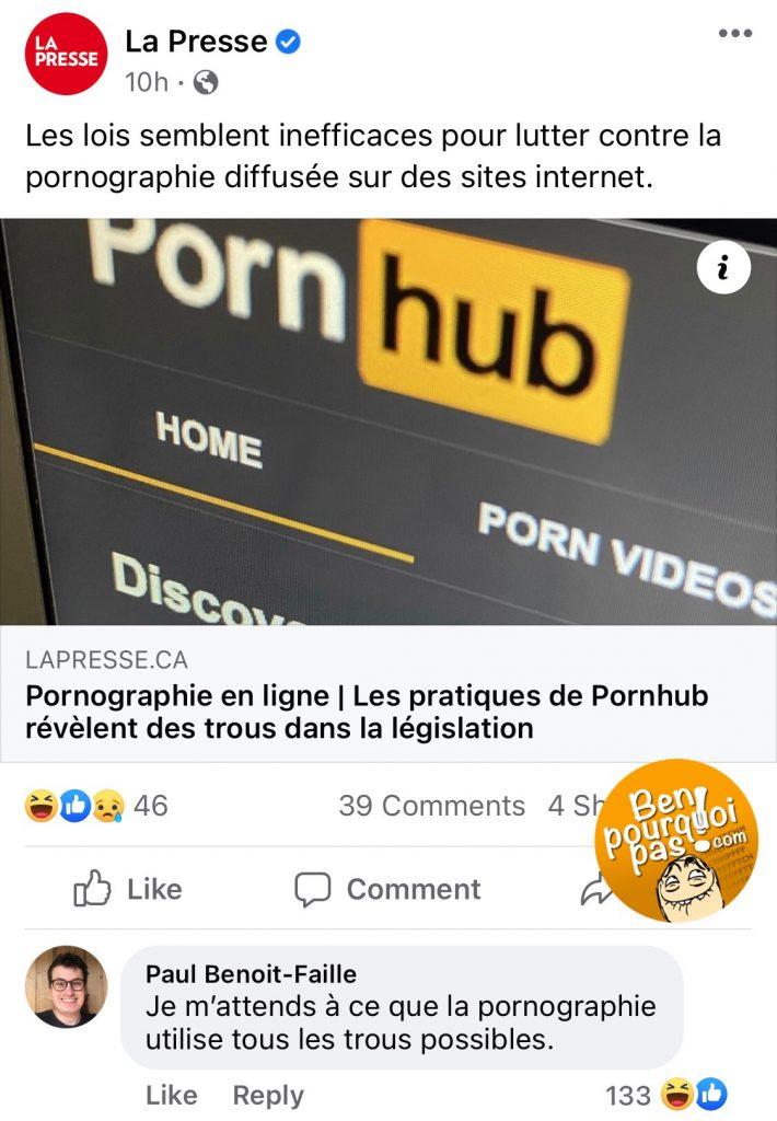 On s'attends à rien de moins de la part de Pornhub: ils utiliseront tous les trous