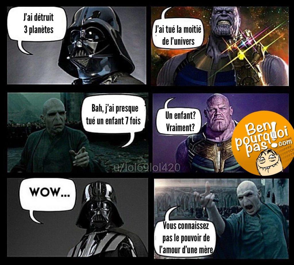 Qui est le plus méchant entre Darth Vador, Thanos et Voldemort?