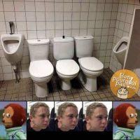 Aller à la toilette en groupe, ça doit être très intimes